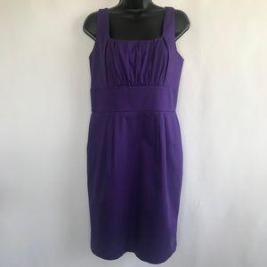 Calvin Klein Purple Midi Sheath Dress